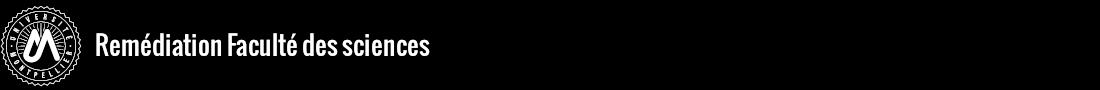 Remédiation à la Faculté des sciences Logo